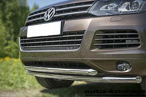 Защита передняя двойная D 60,3/60,3 Volkswagen  Touareg 2010-2014