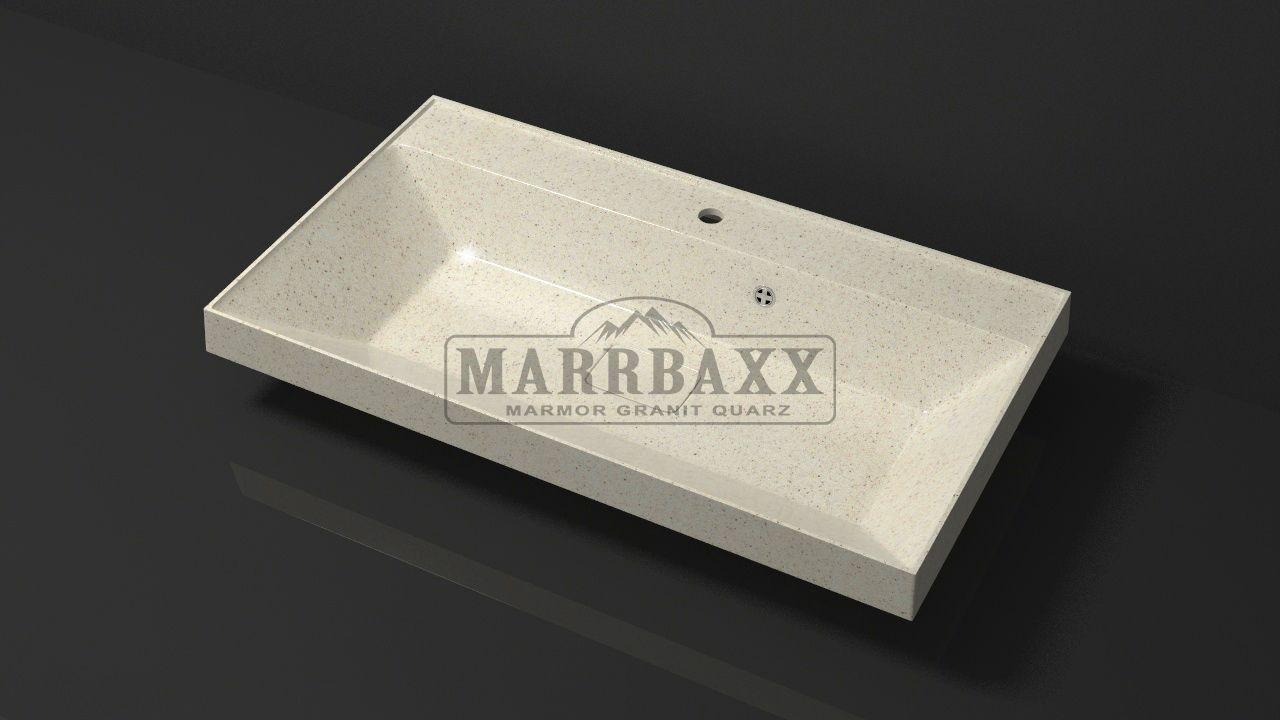 Умывальник из искусственного гранита MARRBAXX  серия Granit MARR  Пегги V8  бежевый (815 мм)