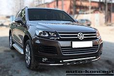 Обвес, защита бамперов, порогов из нержавеющей стали Volkswagen Touareg 2010-2014