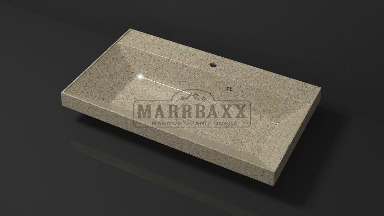 Умывальник из искусственного гранита MARRBAXX  серия Granit MARR  Пегги V8  песочный  (815 мм)