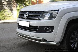 Защита передняя двойная D 76,1/50,8 Volkswagen  Amarok 2010-2016