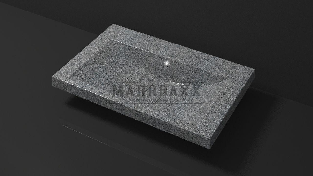 Умывальник из искусственного гранита MARRBAXX  серия Granit MARR  Черри V14 темно-серый  (754 мм)