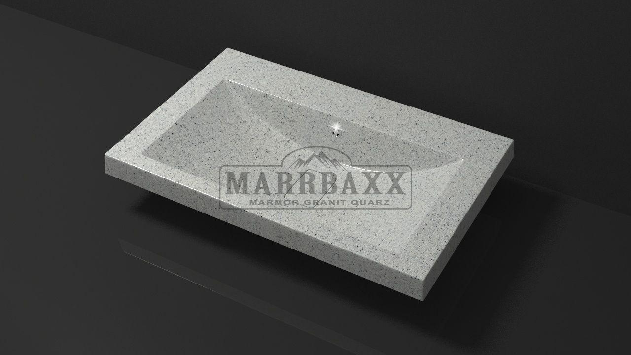 Умывальник из искусственного гранита MARRBAXX  серия Granit MARR  Черри V14 серый  (754 мм)