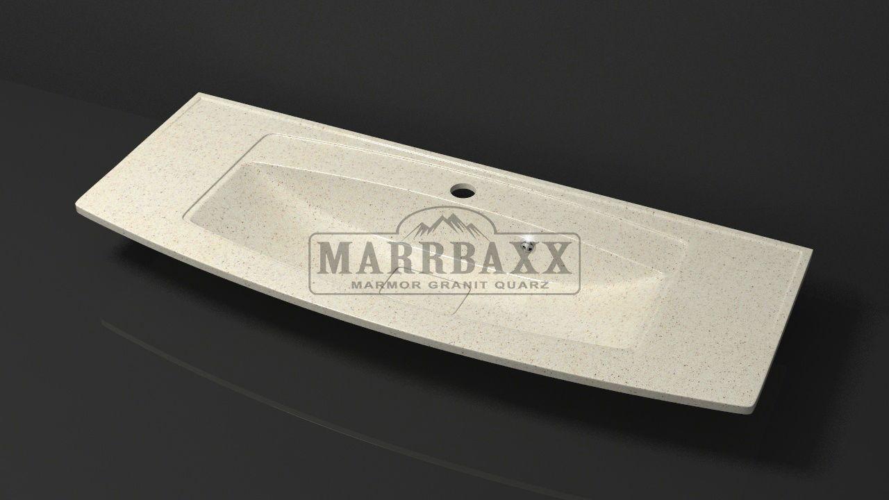 Умывальник из искусственного гранита MARRBAXX  серия Granit MARR  Кристин V12  бежевый (1205 мм)