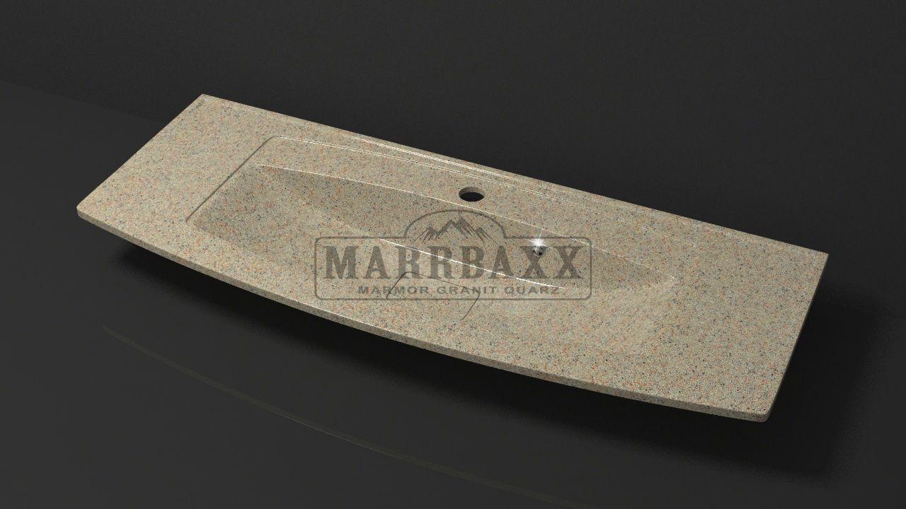 Умывальник из искусственного гранита MARRBAXX  серия Granit MARR  Кристин V12 песочный (1205 мм)