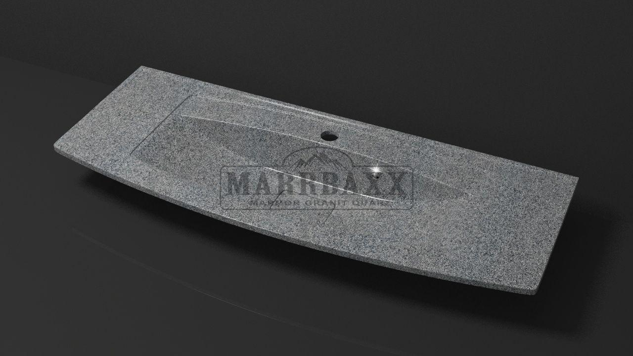 Умывальник из искусственного гранита MARRBAXX  серия Granit MARR  Кристин V12 темно-серый (1205 мм)