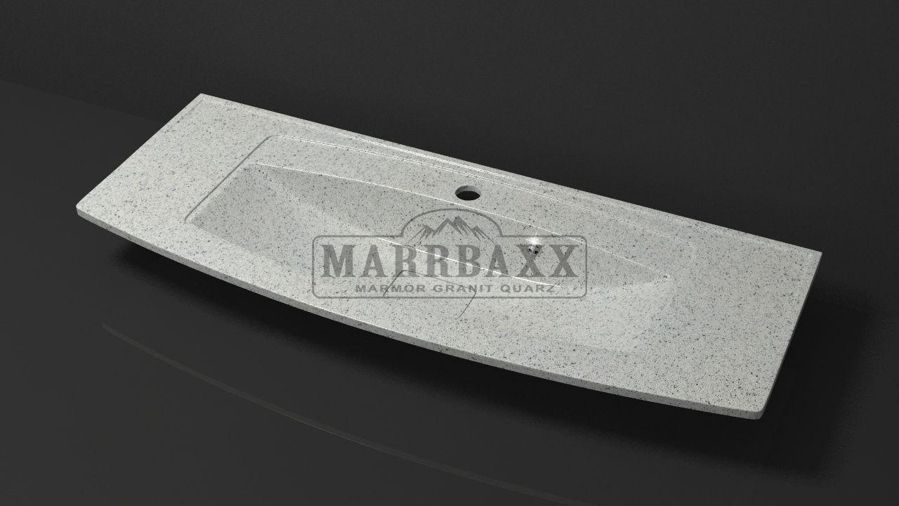 Умывальник из искусственного гранита MARRBAXX  серия Granit MARR  Кристин V12 серый (1205 мм)