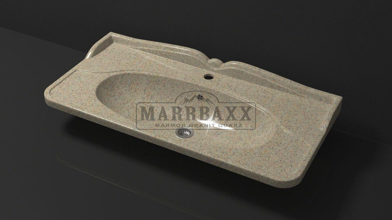 Умывальник из искусственного гранита MARRBAXX  серия Granit MARR Селби V10 песочный (905 мм)