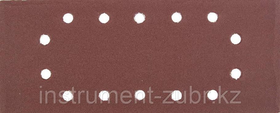 """Лист шлифовальный универсальный STAYER """"MASTER"""" на зажимах, 14 отверстий по периметру, для ПШМ, Р180, 115х280м, фото 2"""