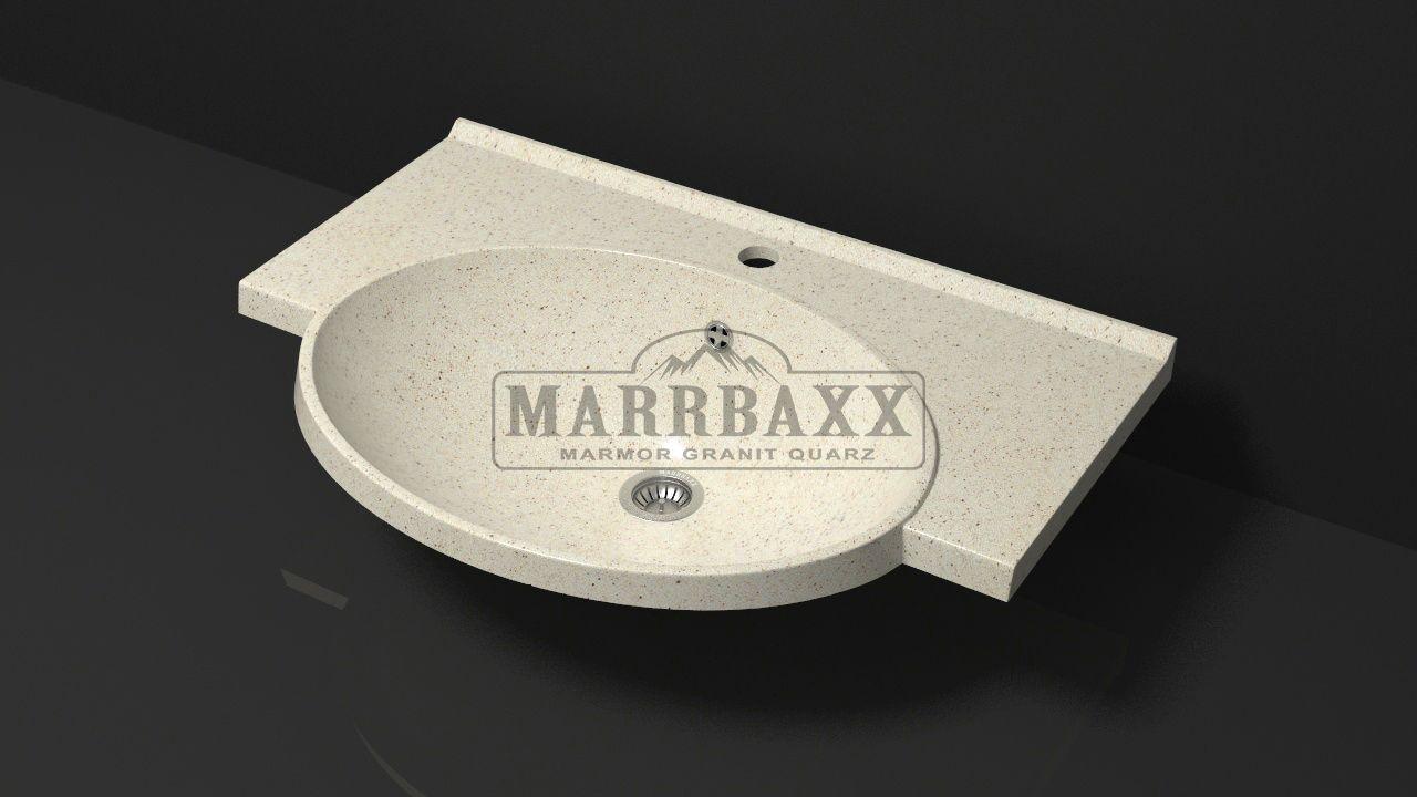 Умывальник из искусственного гранита MARRBAXX  серия Granit MARR Элса V9 бежевый (705 мм)