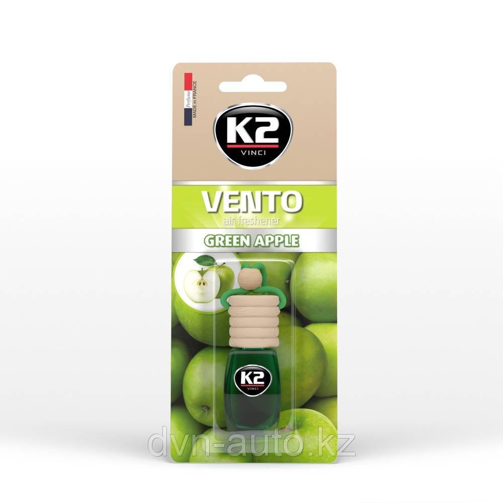 """Ароматизатор K2 """"VENTO"""" флакон с деревянной крышкой зеленое яблоко"""