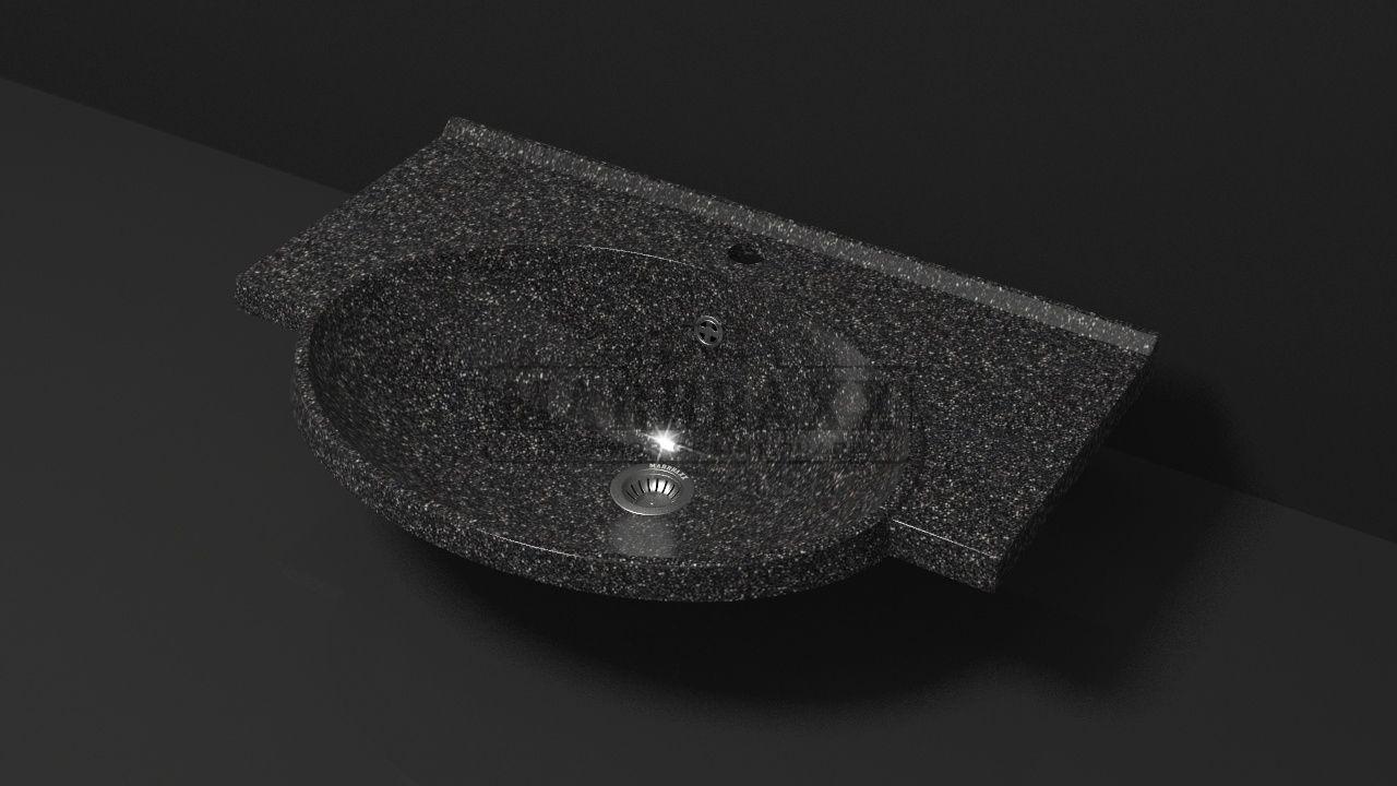 Умывальник из искусственного гранита MARRBAXX  серия Granit MARR Элса V9 черный (705 мм)