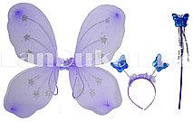 Набор феи крылья и волшебная палочка (сиреневый)