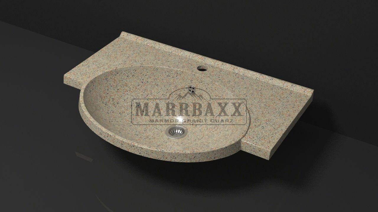 Умывальник из искусственного гранита MARRBAXX  серия Granit MARR Элса V9 песочный (705 мм)