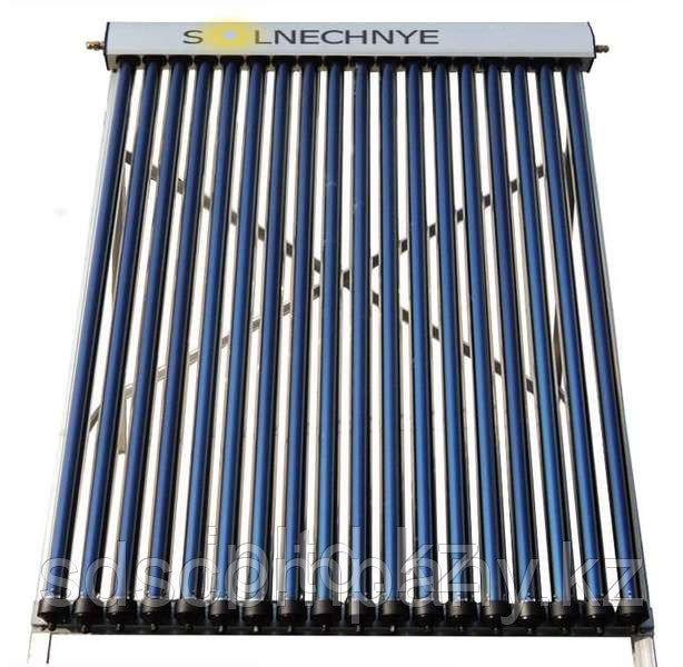 Солнечный коллектор с баком для воды 135 л, 15 трубок, система под давлением, бак окрашенный
