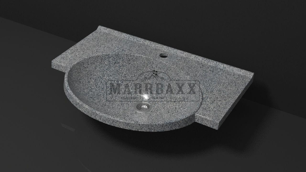 Умывальник из искусственного гранита MARRBAXX  серия Granit MARR Элса V9 темно-серый (705 мм)