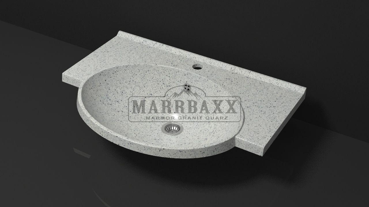 Умывальник из искусственного гранита MARRBAXX  серия Granit MARR Элса V9 серый (705 мм)