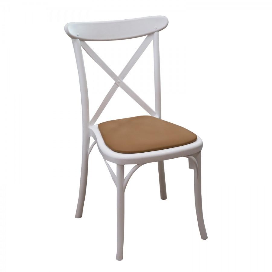 Стул Capri Chair White (с мягким элементом)