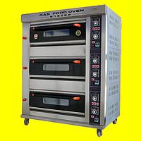 Пекарский шкаф газовый, 3 секции 6 противней, фото 1