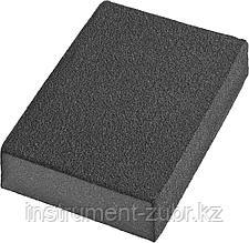 Губки шлифовальные DEXX четырехсторонняя, AL2O3 средняя жесткость, Р80, 100х68х26мм