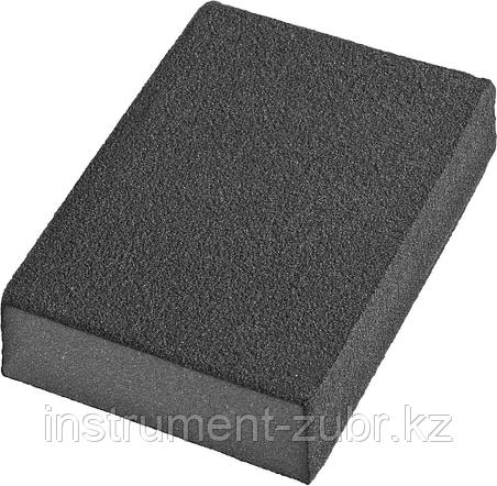 Губки шлифовальные DEXX четырехсторонняя, AL2O3 средняя жесткость, Р120, 100х68х26мм                                                                  , фото 2