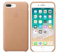 Кожаный чехол для iPhone 7 Plus (бежевый)