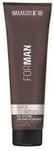 Гель для укладки волос маскирующий седину с коричневым пигментом Back to brown Selective Professional 150 мл.