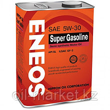 Моторное масло ENEOS SUPER GASOLINE 5w-30 semi-synthetic 4 л