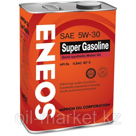 Моторное масло ENEOS SUPER GASOLINE 5w-30 semi-synthetic 4 л, фото 2