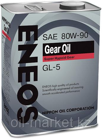 Трансмиссионное масло ENEOS GEAR OIL GL-5 80W90 4 л, фото 2