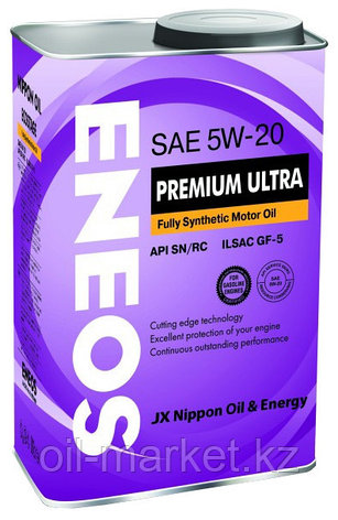 Моторное масло ENEOS PREMIUM ULTRA 5w-20 Synthetic (100%) 4 л, фото 2
