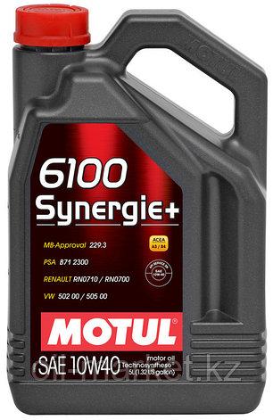 Моторное масло MOTUL 6100 Synergie+ 10W-40 5л, фото 2
