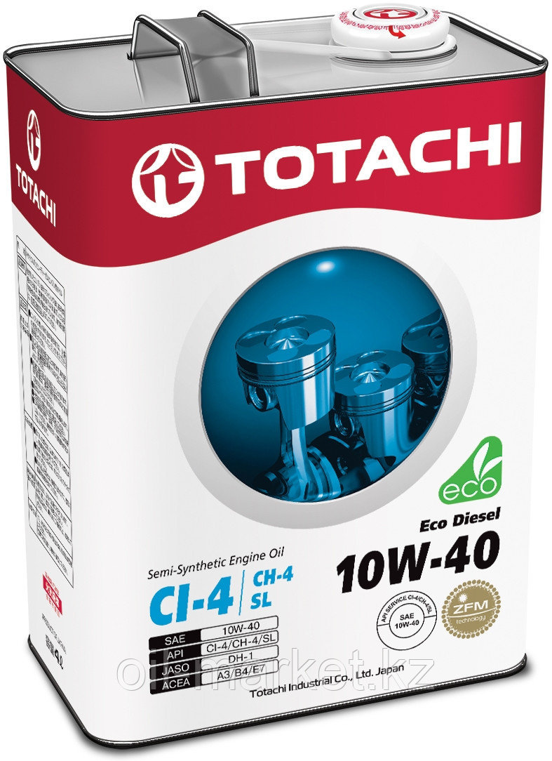 Моторное масло TOTACHI Eco Diesel Semi-Synthetic CI-4/CH-4/SL 10W-40 4L