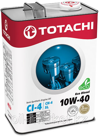 Моторное масло TOTACHI Eco Diesel Semi-Synthetic CI-4/CH-4/SL 10W-40 4L, фото 2