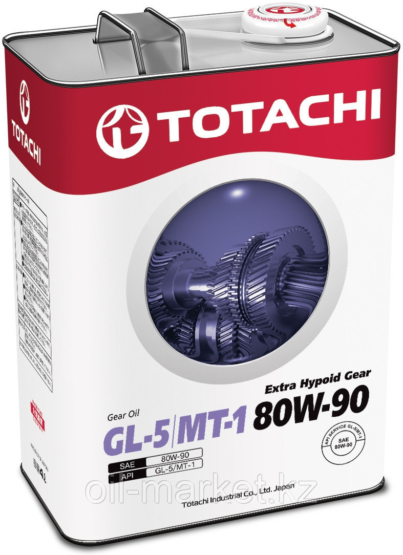 Трансмиссионное масло TOTACHI Extra Hypoid Gear GL-5/MT-1 80W-90  4L