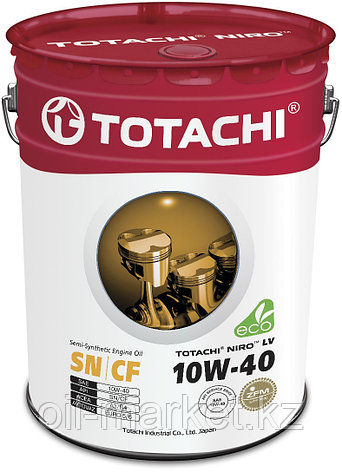 Моторное масло TOTACHI NIRO LV Semi-Synthetic SN/CF A3/B4 10W-40 19L, фото 2