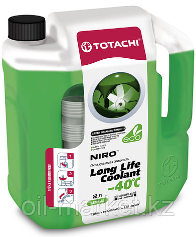 Антифриз TOTACHI NIRO LONG LIFE COOLANT Green 2л. (Зеленый), фото 2