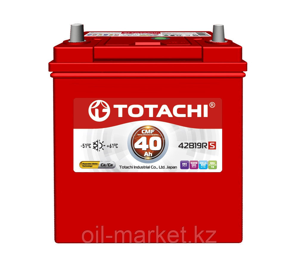 Аккумулятор TOTACHI 40 А/ч CMF - 42B19RS