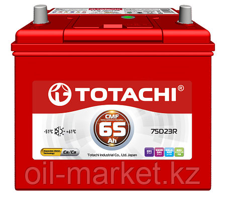 Аккумулятор TOTACHI 65 А/ч CMF - 75D23R, фото 2