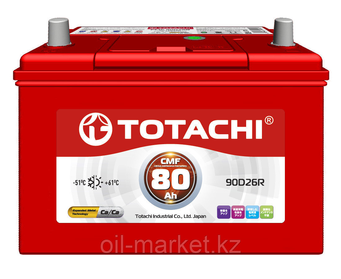 Аккумулятор TOTACHI 80 А/ч CMF - 90D26R