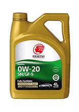 Моторное масло IDEMITSU 0W20 Fully Synt ECO 4L