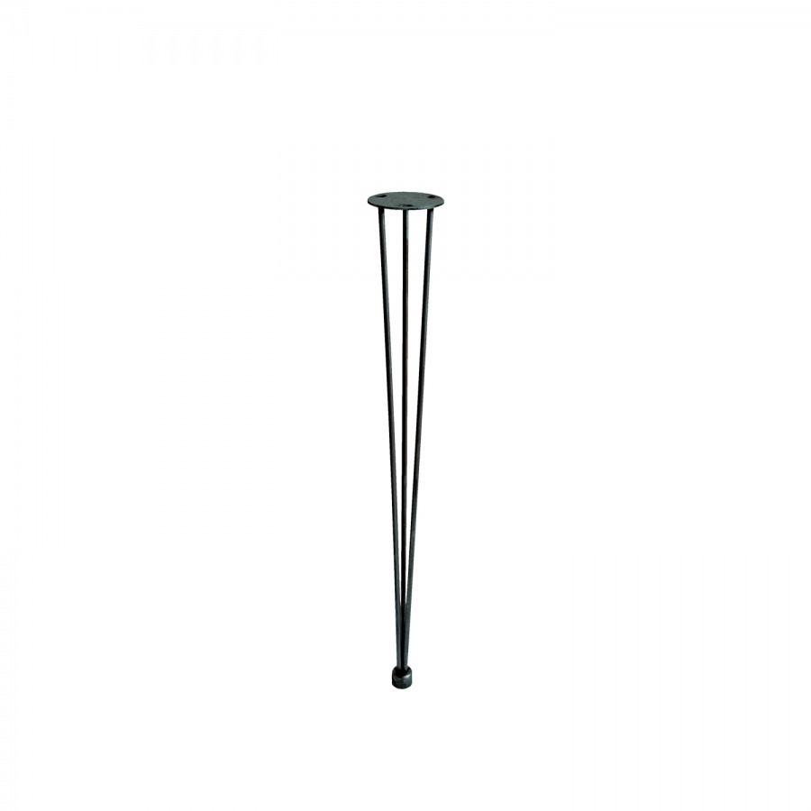 Ножка стола хром (три полоски)