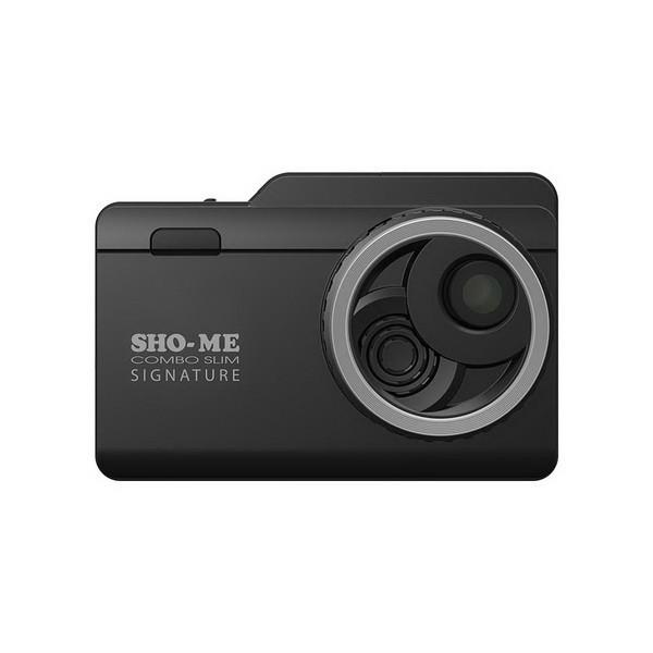 Sho-Me Combo Slim Signature, большой экран 3 дюйма, сенсорный, GPS, база камер