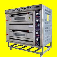 Пекарский шкаф газовый, 2 секции 4 противня, фото 1