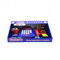 Набор для игры в магазин (Касса с калькулятором, сканер, продукты), фото 1