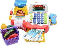 Набор для игры в магазин (Касса с калькулятором, сканер, продукты, деньги)