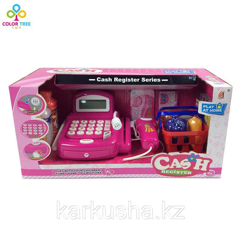 Набор для игры в магазин (Касса с калькулятором, сканер, продукты)