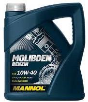 Моторное масло MANNOL Molibden Benzin 10w40 4 литра