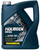 Моторное масло MANNOL Molibden  Diesel 10w40 5 литров