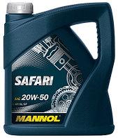 Моторное масло MANNOL Safari 20w50 4 литра